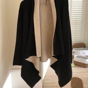 Black and cream cardigan